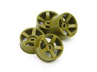 5 Spoke Gold Rim Set (F/R)- Turnigy TZ4 AWD/Drift Spec