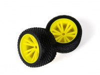 BSR Berserker 1/8 Electric Truggy - Wheel Set (Yellow) (1 pair) 817351-Y