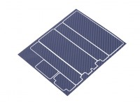 TrackStar Decorative Battery Cover Panels for Standard 2S Hardcase Blue Carbon Pattern (1 Pc)