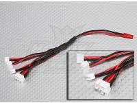 2 Pin JST to 6 x E-Flight Ultra Micro plug Charging Harness