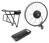 "E-Bike Conversion Kit for 26"" Bikes (PAS Front Wheel Drive) (36V/11A)  (US Plug)"