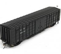 P64K Box Car (Ho Scale - 4 Pack) Black Set 2 Front