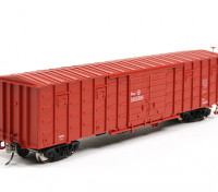 P64K Box Car (Ho Scale - 4 Pack) (Brown Set 4) Front