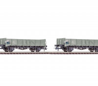 Roco HO 2 Piece 6 Plank Gondola Wagon Set NS