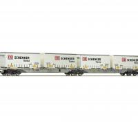 Roco/Fleischmann HO Scale Double Carrier Wagon w/ DB Semitrailers AAE