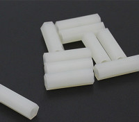 5.6mm x 18mm M3 Nylon Tapped Spacer (10pc)