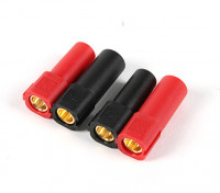 XT150 Connectors w/ 6mm Gold Connectors - Red & Black (5pairs/bag)