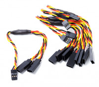 Twisted 15cm Y Servo Leads (JR) 24AWG (5pc)