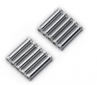 Lightweight Aluminium Round Section Spacer M3x25mm (Silver) (10pcs)