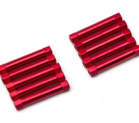 Lightweight Aluminium Round Section Spacer M3x30mm (Red) (10pcs)