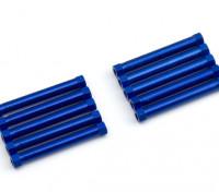 Lightweight Aluminium Round Section Spacer M3x38mm (Blue) (10pcs)
