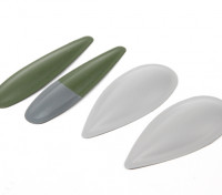 Durafly™ Spitfire Mk5 ETO (Green/Grey) Cannon Blisters