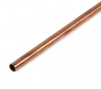 K&S Precision Metal Copper Round Stock Tube 4mm OD x 0.40mm x 1000mm (Qty 1)