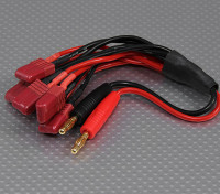 4mm Banana plug with 6 x T-Connector charging harness
