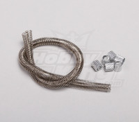 Fuel Line Guard with Silver Coupler