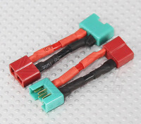 MPX Connector to T-Connector Battery Adapter Lead(2pcs)