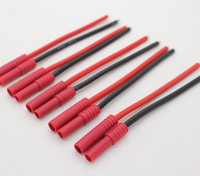 HXT4mm w/12AWG Silicon Wire 10cm (Battery Side) (5pcs/Bag)