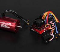 Turnigy TrackStar Waterproof 1/10 Brushless Power System 4000KV/80A