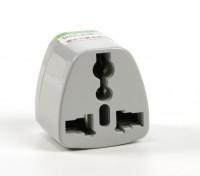 HobbyKing TXW004 Fused 13 Amp Mains Power Multi Adapter-Grey (India Plug)
