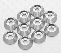 Sockethead Washer Anodised Aluminum M3 (Silver) (10pcs)