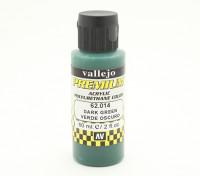 Vallejo Premium Color Acrylic Paint - Dark Green (60ml) 62.014