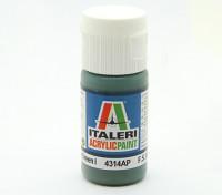 Italeri Acrylic Paint - Flat Medium Green 1 (4314AP)