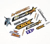 HobbyKing Sticker Sheet - Helis