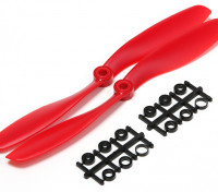 Turnigy Slowfly Propeller 8x4.5 Red (CW) (2pcs)