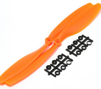 Turnigy Slowfly Propeller 10x4.5 Orange (CW) (2pcs)
