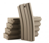 King Arms 120rounds magazines for Marui M4/M16 AEG series (Dark Earth, 5pcs/ box)