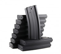 King Arms 120b round metal magazines for Marui M4/M16 AEG series (Black, 10pcs/ box)