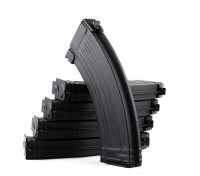 King Arms 140rounds metal magazines for Marui AK AEG series (Black, 5pcs/box)