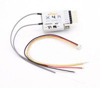 FrSky X4R 4ch 2.4Ghz ACCST Receiver (w/telemetry)