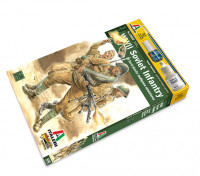 Italeri 1/56 Scale Russian Infantry (16pc) Military Figure Kit