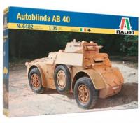 Italeri 1/35 Scale AB 40 Autoblinda Plastic Model Kit