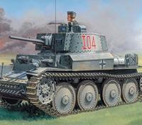 Italeri 1/35 Scale PZ.KPFW. 38(T) Ausf. F Plastic Model Kit