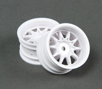 RiDE 1/10 Mini 10 Spoke Wheel 4mm Offset - White (2pcs)
