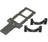Carbon FPV Transmitter Mount with 22mm Boom Clamp