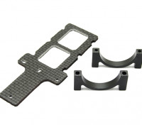 Carbon FPV Transmitter Mount with 25mm Boom Clamp