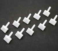 Nylon Thumb Screws M4 x 12mm White (10pc)
