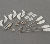 Replacement Control Horns and Accessories Set for Durafly Curtiss P-40N Warhawk.