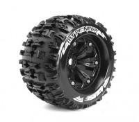 "LOUISE MT-PIONEER 1/8 Scale Traxxas Style Bead 3.8"" Monster Truck SPORT Compound/Black Rim/0 Offset"