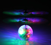 Flying Flashing LED Crystal Disco Ball w/ USB Charging Lead