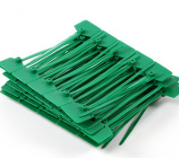 Cable Ties 120mm x 3mm Green with Marker Tag (100pcs)