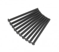 Screw Button Head Hex M3x45mm Machine Thread Steel Black (10pcs)