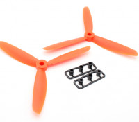 GemFan 5045 GRP 3-Blade Propellers CW/CCW Set Orange (1 Pair)