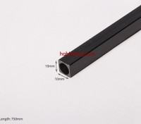 Carbon Fiber Square Tube 750x10mm
