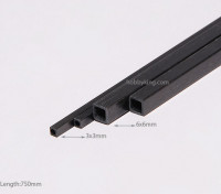 Carbon Fiber Square Tube 750x3mm