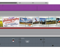 Southern Rail HO Scale VLocity VL45 V-Line DMU Center Car Ltd Edition (Red/Purple/Yellow)