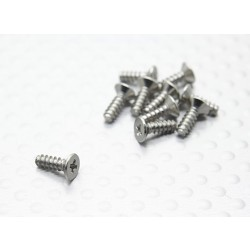 Flat Head Cross Screw (TPF2.6x8mm) (10pcs) - 1/16 Turnigy 4WD Nitro Racing Buggy and A3011